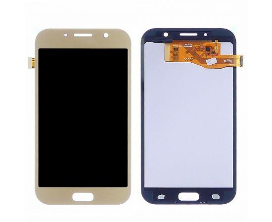 Дисплей для Samsung A720 Galaxy A7 (2017) с золотистым тачскрином, с регулируемой подсветкой IPS