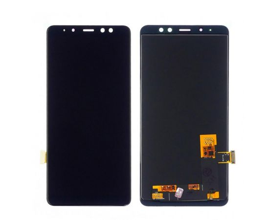 Дисплей для Samsung A730 Galaxy A8 Plus (2018) с чёрным тачскрином, с регулируемой подсветкой