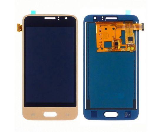 Дисплей для Samsung J120 Galaxy J1 (2016) с золотистым тачскрином, с регулируемой подсветкой БЕЗ ЛОГОТИПА