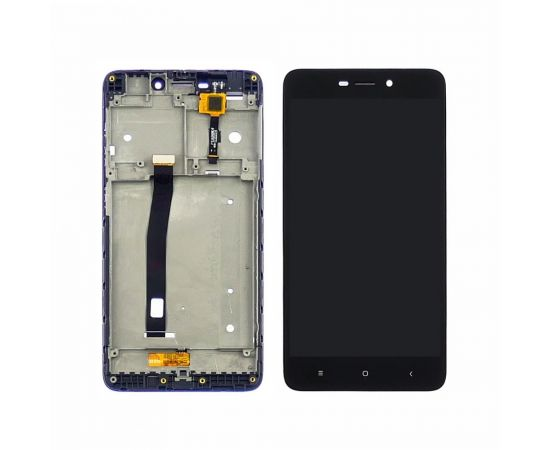 Дисплей для Xiaomi Redmi 4A с чёрным тачскрином и корпусной рамкой