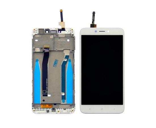 Дисплей для Xiaomi Redmi 4X с белым тачскрином и корпусной рамкой