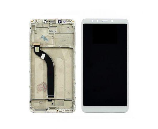 Дисплей для Xiaomi Redmi 5 с белым тачскрином и корпусной рамкой