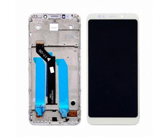 Дисплей для Xiaomi Redmi 5 Plus с белым тачскрином и корпусной рамкой