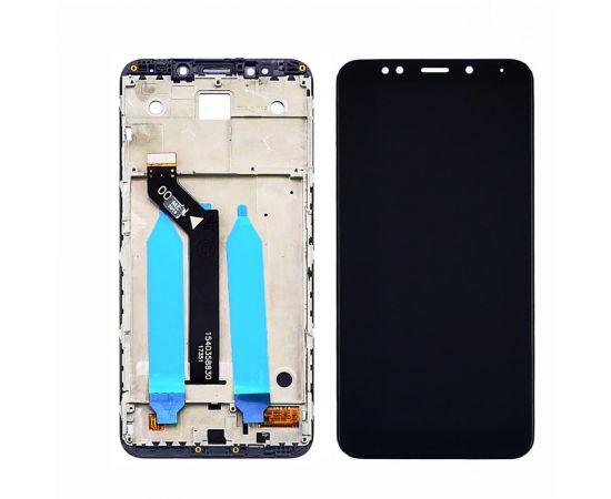 Дисплей для Xiaomi Redmi 5 Plus с чёрным тачскрином и корпусной рамкой