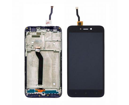Дисплей для Xiaomi Redmi 5A с чёрным тачскрином и корпусной рамкой