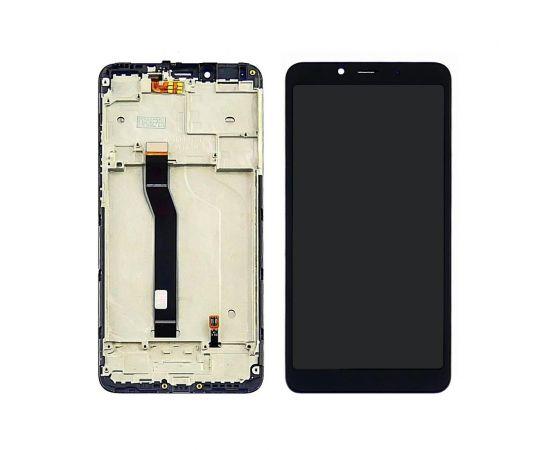 Дисплей для Xiaomi Redmi 6/6A с чёрным тачскрином и корпусной рамкой