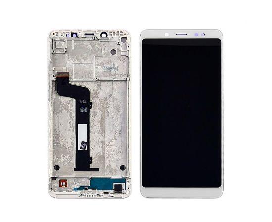 Дисплей для Xiaomi Redmi Note 5/Note 5 Pro с белым тачскрином и корпусной рамкой