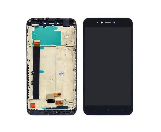 Дисплей для Xiaomi Redmi Note 5A Lite с чёрным тачскрином и корпусной рамкой