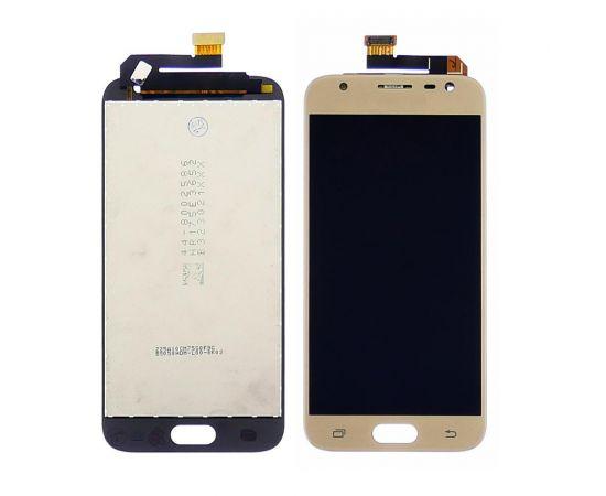 Дисплей для Samsung J330 Galaxy J3 (2017) с золотистым тачскрином, с регулируемой подсветкой