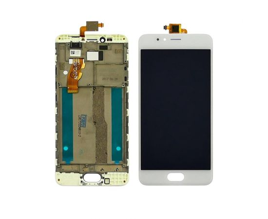 Дисплей для Meizu M5s с белым тачскрином и корпусной рамкой