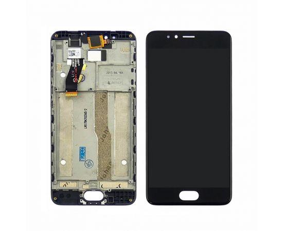 Дисплей для Meizu M5s с чёрным тачскрином и корпусной рамкой