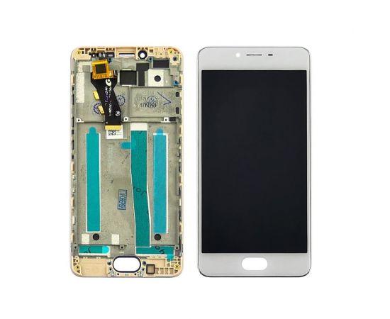 Дисплей для Meizu M3s с белым тачскрином и корпусной рамкой