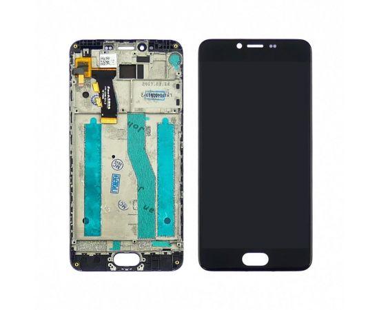 Дисплей для Meizu M5 с чёрным тачскрином и корпусной рамкой