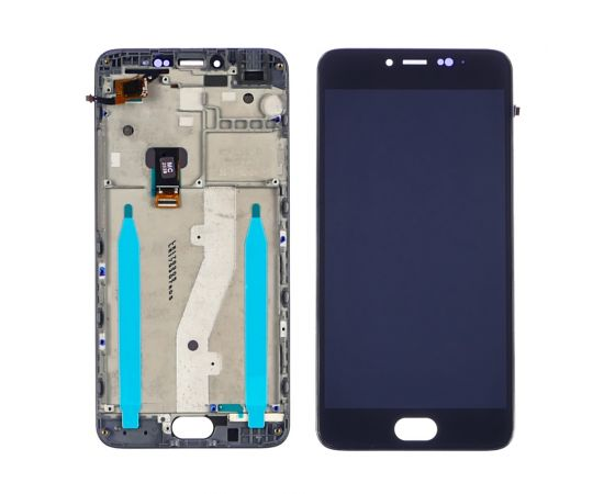 Дисплей для Meizu M3 Note (model L681H) с чёрным тачскрином и корпусной рамкой
