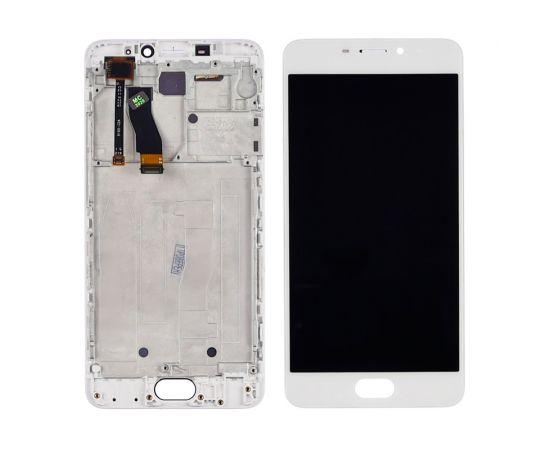 Дисплей для Meizu M5 Note с белым тачскрином и корпусной рамкой