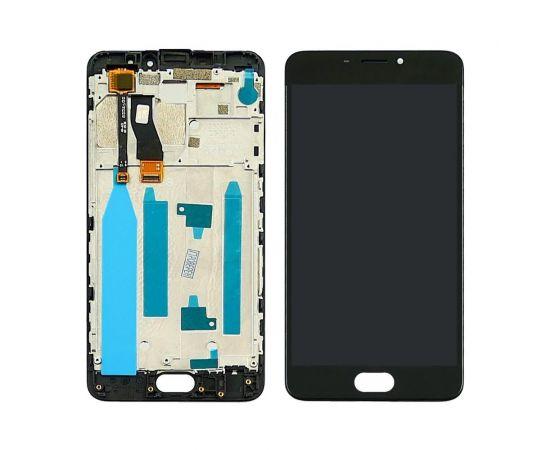 Дисплей для Meizu M5 Note с чёрным тачскрином и корпусной рамкой