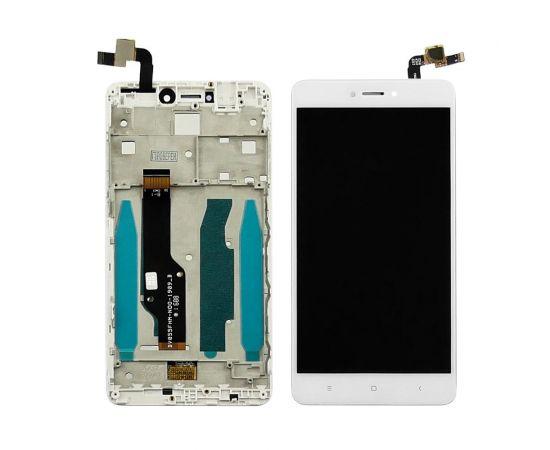 Дисплей для Xiaomi Redmi Note 4X с белым тачскрином и корпусной рамкой