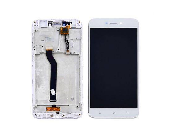Дисплей для Xiaomi Redmi 5A с белым тачскрином и корпусной рамкой