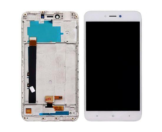 Дисплей для Xiaomi Redmi Note 5A Lite с белым тачскрином и корпусной рамкой