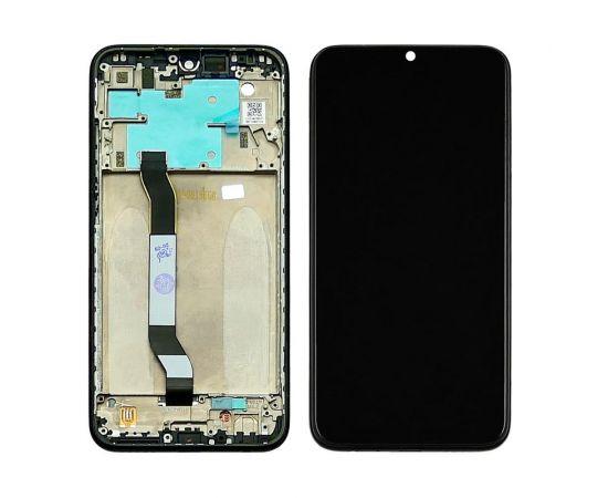 Дисплей для Xiaomi Redmi Note 8 с чёрным тачскрином и чёрной корпусной рамкой