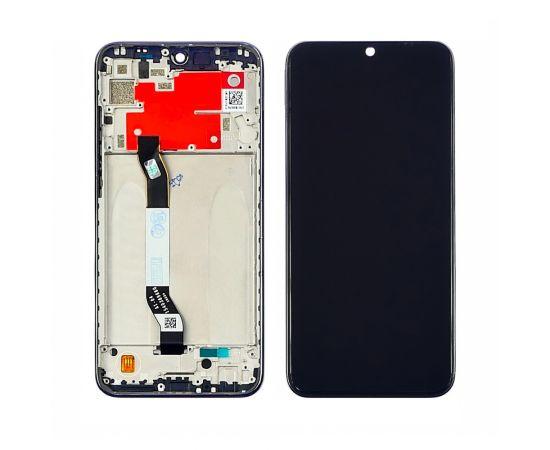 Дисплей для Xiaomi Redmi Note 8T с чёрным тачскрином и серой корпусной рамкой