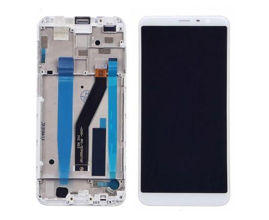 Дисплей для Meizu M6T с белым тачскрином и корпусной рамкой
