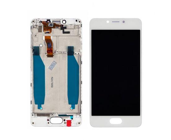 Дисплей для Meizu M5C с белым тачскрином и корпусной рамкой