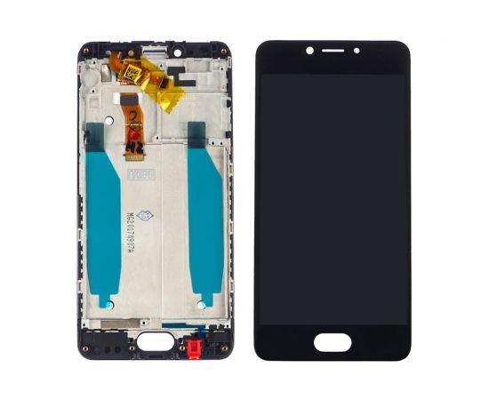 Дисплей для Meizu M5C с чёрным тачскрином и корпусной рамкой