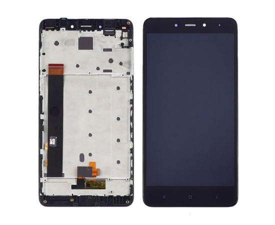 Дисплей для Xiaomi Redmi Note 4 с чёрным тачскрином и корпусной рамкой