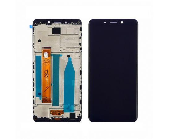 Дисплей для Meizu M6s с чёрным тачскрином и корпусной рамкой