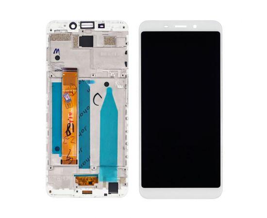 Дисплей для Meizu M6s с белым тачскрином и корпусной рамкой