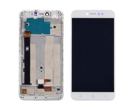 Дисплей для Xiaomi Redmi Note 5A Prime с белым тачскрином и корпусной рамкой