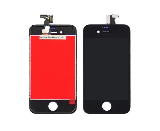 Дисплей для Apple iPhone 4s с чёрным тачскрином HC