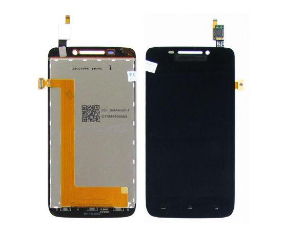 Дисплей для Lenovo S650 с черным тачскрином