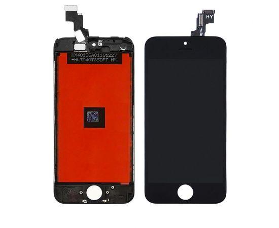 Дисплей для Apple iPhone 5C с чёрным тачскрином HC