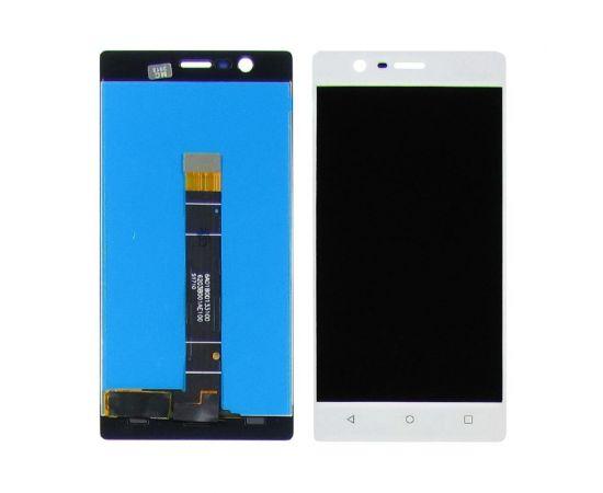 Дисплей для Nokia 3 с белым тачскрином