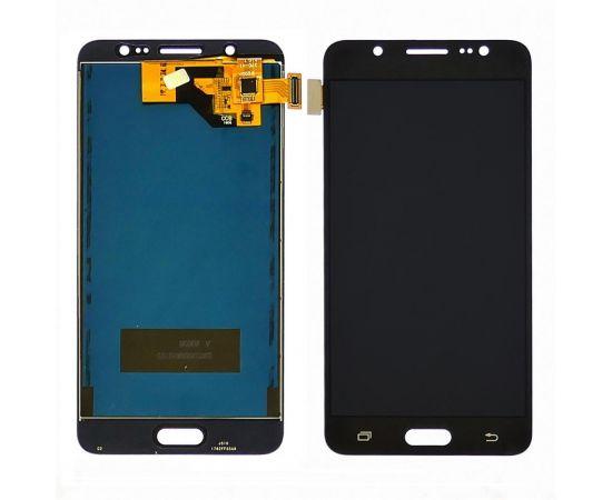 Дисплей для Samsung J510 Galaxy J5 (2016) с чёрным тачскрином, с регулируемой подсветкой БЕЗ ЛОГОТИПА