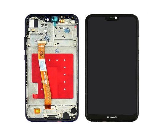 Дисплей для Huawei P20 Lite с чёрным тачскрином и корпусной рамкой