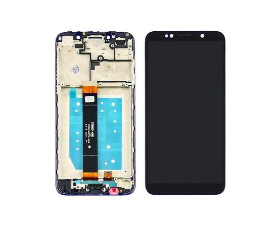 Дисплей для Huawei Y5 (2018) с чёрным тачскрином и корпусной рамкой