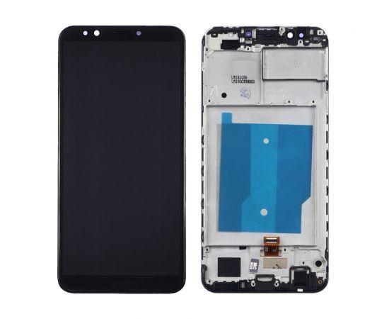 Дисплей для Huawei Y7 2018/ Nova 2 Lite с чёрным тачскрином и корпусной рамкой