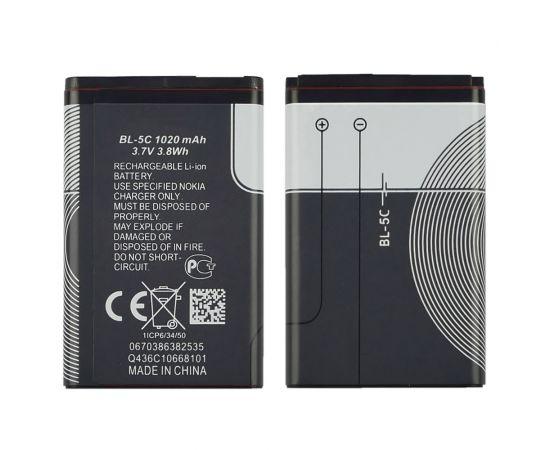 Аккумулятор BL-5C для Nokia 2300/ 3100/ 5030/ 6230/ 6230i/ 6600/ 6630/ C1-00/ C2-00/ E50/ N70/ N71/ N72/ X2-01 AAAA