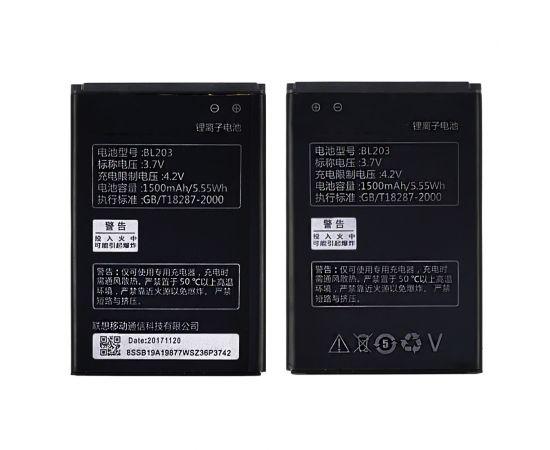 Аккумулятор BL203 для Lenovo A369i/ A66/ A278T/ A208T/ A218T/ A365E/ A308T/ A396/ A316/ A316i/ A318 AAAA