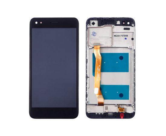 Дисплей для Huawei Y6 Pro (2017)/ P9 Lite mini/ Nova Lite (2017) с чёрным тачскрином и корпусной рамкой