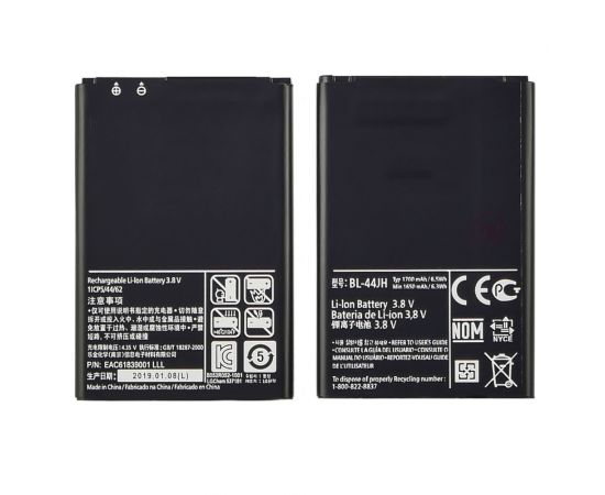Аккумулятор BL-44JH для LG P700/ L4/ L5/ L7 AAAA