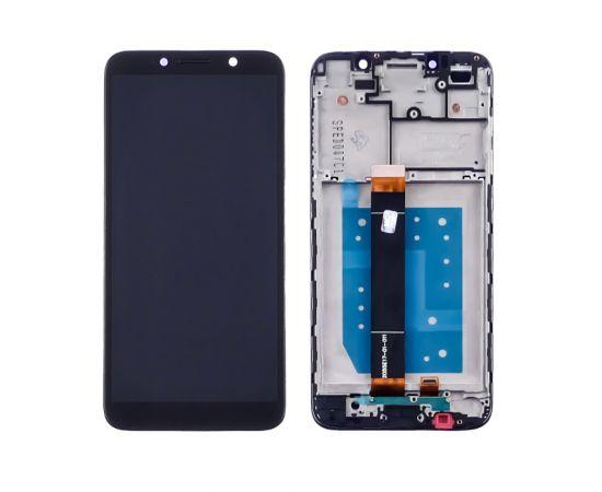 Дисплей для Huawei Y5P (2020) с чёрным тачскрином и корпусной рамкой