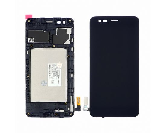 Дисплей для LG K4 (2017) M160 с чёрным тачскрином и корпусной рамкой